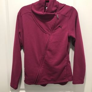 Puma Womens Diagonal Zip Sweatshirt